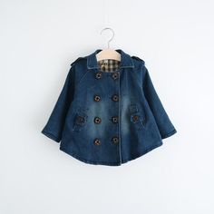 Find More Jackets & Coats Information about Sweet Kids Girls Double Breast Denim Jackets Outwears Ruffles Pockets Design Western Fashion Outwears Princess Spring Winter Coa,High Quality denim cotton jacket,China jacket brooch Suppliers, Cheap denim jacket fashion from Everweekend Clothing Co.,Ltd on Aliexpress.com