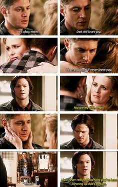 This scene was so sad   Sam finally realized how much Dean had done for everyone