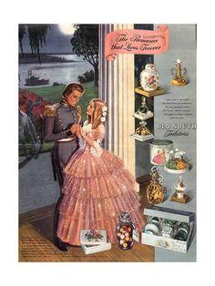 Vintage Makeup Giclee Print: USA Old South Magazine Advertisement : - Vintage Makeup Ads, Vintage Beauty, Vintage Ads, Vintage Fashion, Vintage Labels, Perfume Ad, Vintage Perfume, Perfume Bottles, Women Romance