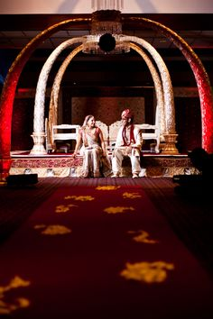 Love the mandap and the shot.