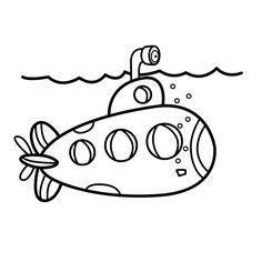 Leuk Voor Kids Kleurplaat Duikboot