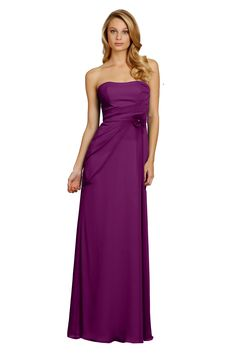 Strapless Gorgeous Chiffon Long Bridesmaid Dress D5316  99 Beautiful Bridesmaid  Dresses 716b4e685759