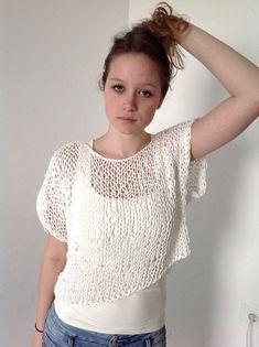 8b6103e4b9e91 Loose knit top - net - summer tank   women clothing   knitted summer  sweater   OOAK on Etsy