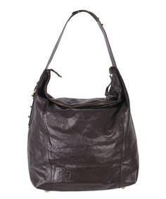 Black Dianne Leather Hobo by Latico Leather #zulily #zulilyfinds
