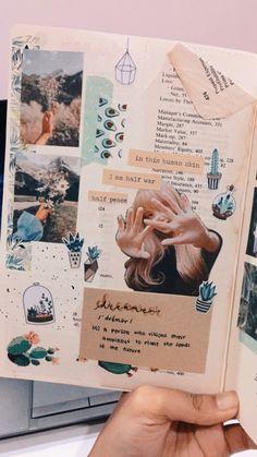 Bullet Journal Notebook, Bullet Journal Ideas Pages, Bullet Journal Inspiration, Art Journal Pages, Arte Gcse, Bullet Journal Aesthetic, Arte Sketchbook, Creative Journal, Scrapbook Journal