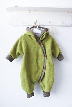 Wollanzug apfel - petit cochon - Kinderkleidung, die mitwächst. Handarbeit aus Berlin!