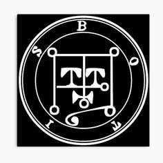 Impression sur toile «Sceau Demon Botis» Wiccan, Magick, Witchcraft, Demonology, Solomon, Seals, Satan, Les Oeuvres, Mythology