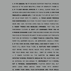 The fixer's manifesto