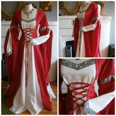 Medieval Dress, Renaissance Gown, LARP and Fantasy Costume size M by CadwaladrCostumes on Etsy