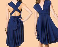 Convertible dress in milliskin matte Navy made with by Dalina, $85.00  @Kara Cahoon I like this one the best