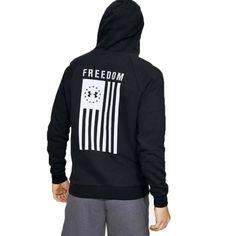 Under Armour Men S Ua Freedom Flag Rival Black Sweatshirt Hoodie L 1352678 001 192811876995 Ebay Hoodies Hoodies Men Pullover Black Sweatshirt Hoodie