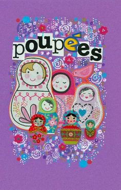 "Collages ""Poupées Russes"": carte rectangulaire by CIGALE CITY (previously ""Pomme Pomme Girl"")"