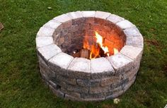 Build an outdoor fireplace to make your backyard a cozy oasis! #diy #outdoors
