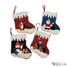 Felt Deluxe Christmas Stockings - 12 Pk Party Supplies Canada - Open A Party