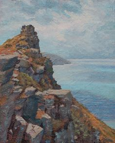 """""""Study for Castle Rock,"""" Jonathan Small, 2014, oil on linen mounted on panel, 10 x 8"""", private collection."""