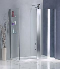1500 x 900 Walk in shower enclosure + Stone tray O46
