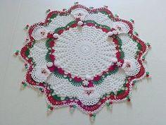 Brand new crochet doily with turkey. Thanksgiving di KroneCrochet