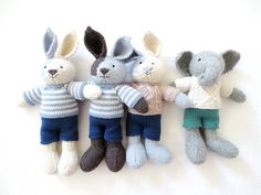 Boy bunnies...and a wooly elephant!
