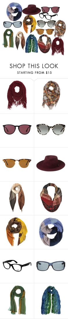 """шарфы"" by artemia-13 on Polyvore featuring мода, Charlotte Russe, Ray-Ban, Tory Burch, Whistles, Paul Smith, Black Rivet, Paula Bianco, Christian Dior и Laura Biagiotti"