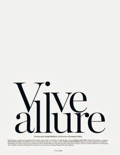 vive allure: karlie kloss by katja rahlwes for vogue paris october 2013 Typography Layout, Lettering Design, Branding Design, Hand Lettering, Typography Inspiration, Graphic Design Inspiration, Text Layout, Web Design, Editorial Layout