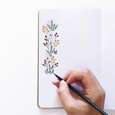Handmade Journals Flowers by Renee Ryan Doodle Drawings, Doodle Art, Handmade Journals, Handmade Books, Motif Floral, Bullet Journal Inspiration, Watercolor Cards, Hand Lettering, How To Draw Hands
