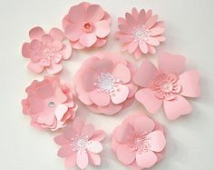 8 pcs. 2-Color Matte Cardstock Paper Flowers от TracesofPearl