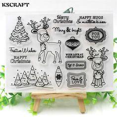 Christmas Deer Transparent Stamps
