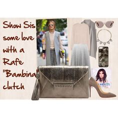 """""""Show Sis some love with a Rafe """"Bambina"""" clutch"""" by rafe-new-york on Polyvore, envelope clutch available @blooomingdales online"""