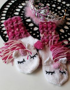 Knitted Gloves, Crochet Clothes, Knit Crochet, Winter Hats, Cross Stitch, Diy Crafts, Knitting, Baby, Nails