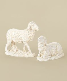 Loving this Ivory Sheep Large Statue Set on #zulily! #zulilyfinds