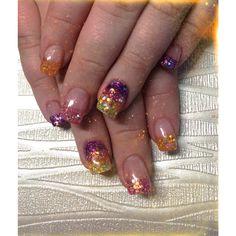 Colourful set of Acrylic Nails
