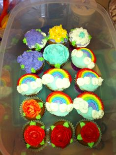 A variety of cupcakes.