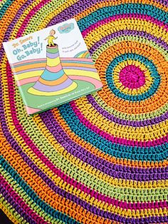 Oh, The Places You'll Go Baby Blanket - free until 15th May 2015 crochet pattern by Linda Bond Thomas.