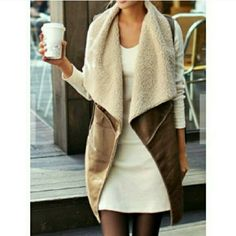 """PM EDITOR PICK Suedette/Shearling Lined Vest """"BEST IN RETAIL"""" PARTY HOST PICK/PM EDITOR'S SHARE! 11/15/15  Customer Rated 5's  LAST ONE!  Fabulous Faux Suede w/ Shearling Fits Sizes XS-M Cozy & Cute!  OS Fits XS-S Shoulder: 13.7""""  Bust: 38.5""""  Length: 33.4""""  NWOT Directly From Vendor  Price Is Firm No Exceptions    I have one of these & I absolutely love it! Goes with everything... looks great on! & is so soft!   ❌  Absolutely No Trades  ✈  Fast Shipping Boutique  Jackets & Coats Vests"""