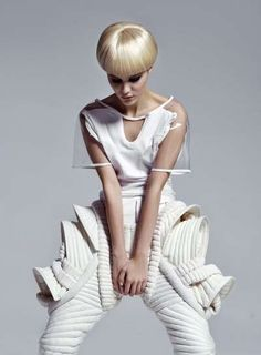 60s Cyborg Editorials- Designers: Jeffrey Campbell, Sylwia Rochala and Maison Martin Margiela for H&M, among others.