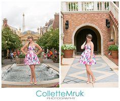 Collette Mruk Disney World Senior Portrait Photographer epcot