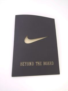 The cut-out is a simple way to make a statement on this corporate invite.
