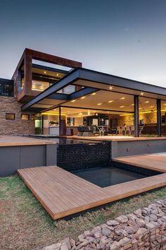 Una casa orientada al exterior ...