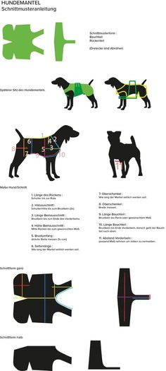 Schnittmuster - Mantel - My list of the most creative animals Dog Clothes Patterns, Coat Patterns, Sewing Patterns, Small Dog Clothes, Pet Clothes, Animals Crossing, Dog Coat Pattern, Dog Jacket, Dog Items