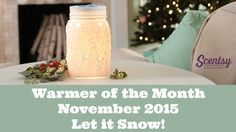 Quick look at the warmer and scent of the month for November 2015 https://terridesjardins.scentsy.us/