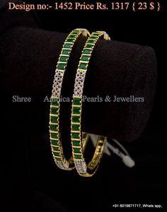 Cz and emerald guarantee bangles