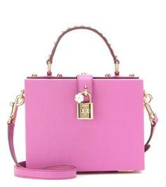Pink pretty bag - Dolce & Gabbana Verzierte Tasche Aus Leder