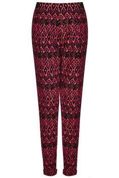 Pantalon fuselé en jersey motif aztèque - Nouveautés de la semaine  - Nouveautés - Topshop