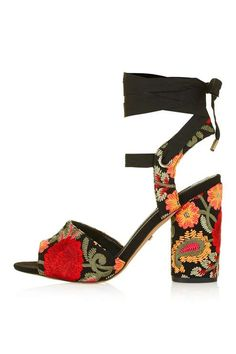 ROYAL Embroidered Sandals - Topshop