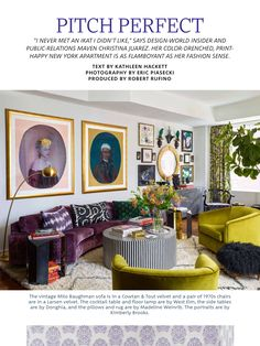 """""""Pitch Perfect/Christina Juarez"""" from ELLE Decor, October 2017. Read it on the Texture app-unlimited access to 200+ top magazines."""