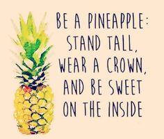 my little pineapple girl. Seja como abacaxi