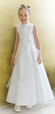 Emmerling First Holy Communion Dress 70089 - Plus Size 11x, 11l Larger Size For Bigger Girls