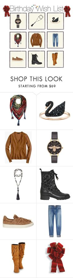 """Birthday Wish List"" by sharonvandoesburg ❤ liked on Polyvore featuring Johnny Was, Swarovski, J.Crew, Olivia Burton, jared, Valentino, Ports 1961, Frame, Phase Eight and Frontgate"
