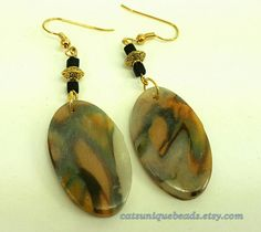 Abstract Design Polymer Clay Earrings - Item #E1040 - Women's Jewelry - Art Jewelry - Jewelry Gift - Bead Jewelry - Dangle earrings by CatsUniqueBeads on Etsy https://www.etsy.com/listing/206341546/abstract-design-polymer-clay-earrings