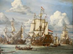 Click image to close this window Anglo Dutch Wars, Dutch Republic, Old Sailing Ships, Ship Of The Line, Ship Drawing, Ship Paintings, Naval History, Pirate Life, Nautical Art